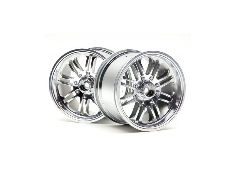 HPI RACING 8 Spoke Wheel Satin Chrome (83X56Mm/2Pcs) - 3138 click to zoom image