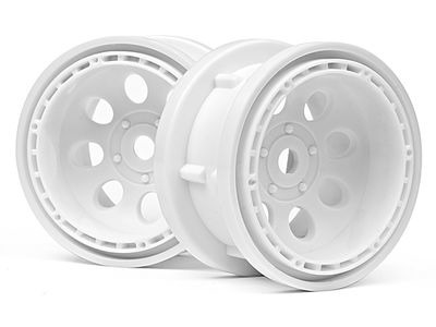 HPI RACING Rock 8 Bead Lock Wheel White (55X36Mm/2Pcs) - 3211