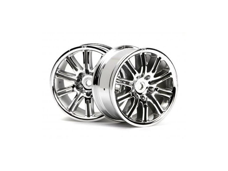 HPI RACING 10 Spoke Motor Sport Wheel 26Mm Chrome - 3772 click to zoom image