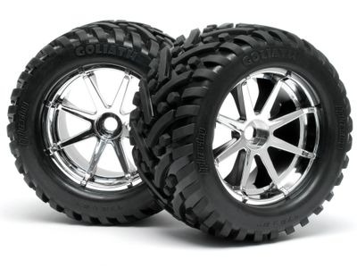 HPI RACING Mounted Goliath Tyre 178X97Mm  On Blast Wheel Chrome - 4727