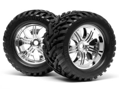 HPI RACING Mounted Goliath Tyre 178X97Mm  On Tremor Wheel Chrome - 4728
