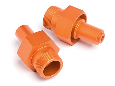 HPI RACING 24Mm Front Hex Hub (Orange/2Pcs) - 87493