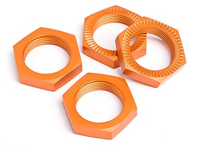 HPI RACING Wheel Nut 24Mm (Orange/4Pcs) - 87494