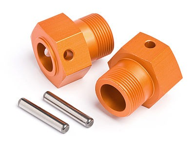 HPI RACING Wheel Hex Hub 24X27Mm (Orange/2Pcs) - 87495