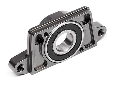 HPI RACING Hd Aluminum Spur Gear Mount (Gunmetal) - 87559