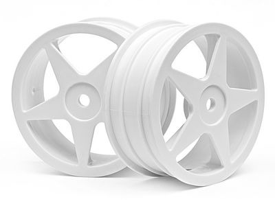 HPI RACING Ultra 5 Wheel White (2.2In/60X26Mm/2Pcs) - 100867