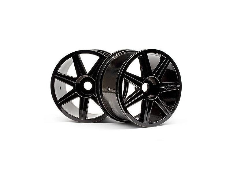 HPI RACING 7 Spoke Black Chrome Trophy Truggy Wheel - 101156 click to zoom image