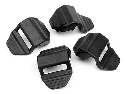 HPI RACING Rubber Strap (Black/4Pcs) - 102361