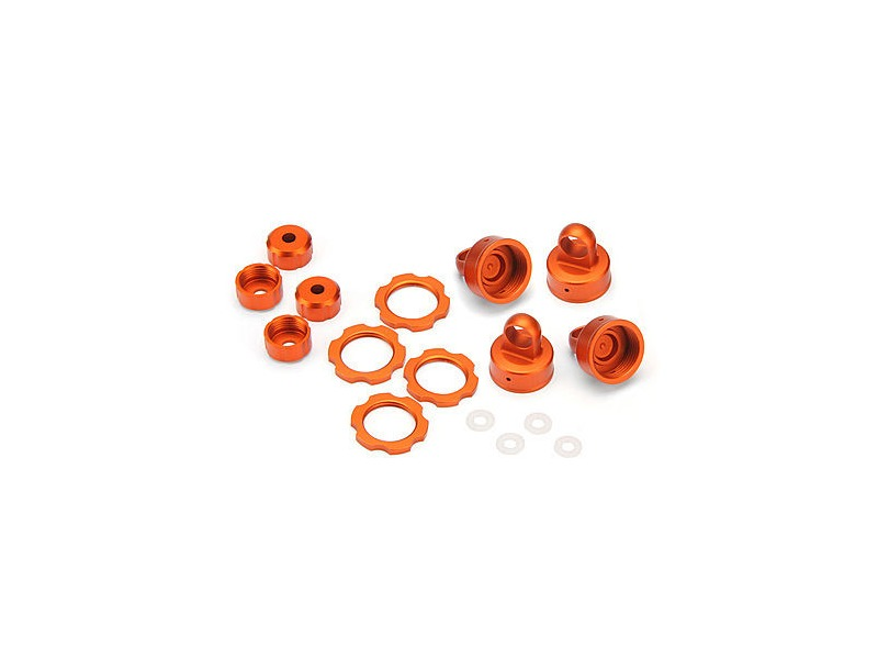 "HPI RACING ""Shock Color Parts Set, Orange Anodized - 103408"" click to zoom image"