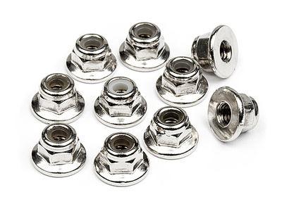 HPI RACING Flanged Lock Nut M3 (10Pcs) - 103671