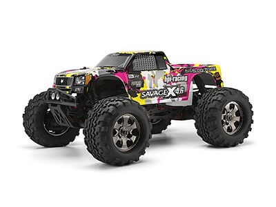 HPI RACING Nitro Gt-3 Truck Painted Body (Yellow/Pink/Black) - 105897