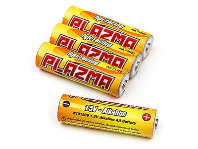 HPI RACING Plazma 1.5V Alkaline AA Battery (4Pcs) - 101939