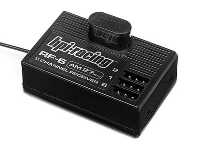 HPI RACING Hpi Rf-6 Receiver Without Crystal (Am 27 Mhz/2Ch) - 80569