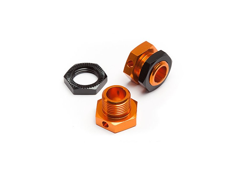 HPI RACING 5Mm Hex Wheel Adapters Trophy Buggy (Orange/Black) - 101785 click to zoom image