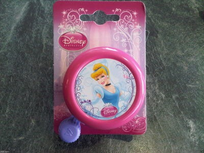 WIDEK Disney Princess Bell (Colour Options). 55mm dia Princess Cinderella pink  click to zoom image