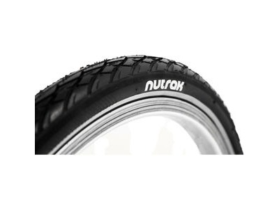 NUTRAK 6 x 1 3 / 8 siped street tyre with reflective stripe and puncture breaker
