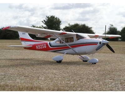 "ART-TECH Cessna 182 500 EPOFLEXY Brushless Trainer Plane RTF Wingspan 1300mm (51.2"") Red/white  click to zoom image"