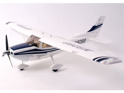 "ART-TECH Cessna 182 500 EPOFLEXY Brushless Trainer Plane Plug and Play PNP Wingspan 1300mm (51.2"") Blue/White  click to zoom image"