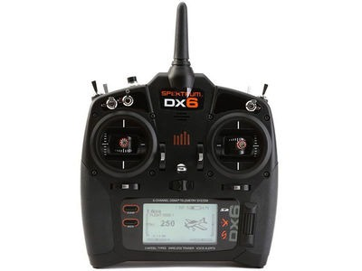 SPEKTRUM DX6 G3 6-CH DSMX Transmitter w/AR6600T RX (Mode 2) Set.