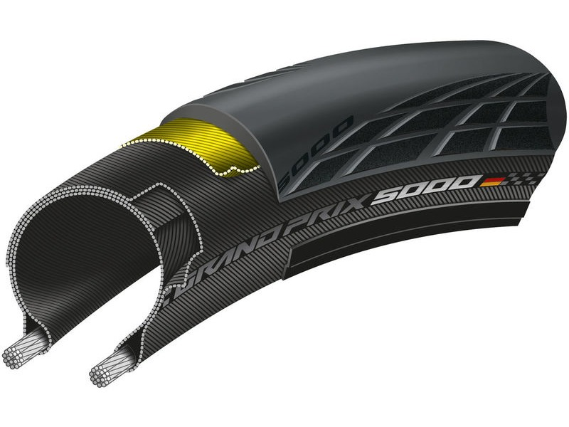 CONTINENTAL Grand Prix 5000 Tubeless Tyre click to zoom image