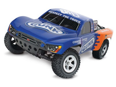 TRAXXAS Slash XL-5 1/10 2WD (TQ/8.4V/DC Chg) 1/10 2WD SC Aire Blue /Orange  click to zoom image