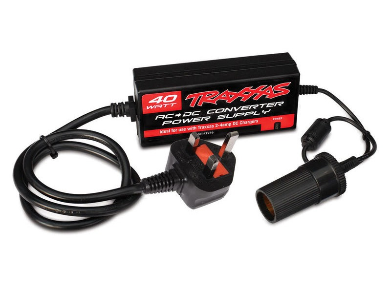 TRAXXAS AC To DC Power Supply 40W, UK click to zoom image