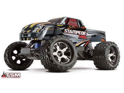 TRAXXAS Stampede VXL Brushless 2WD TSM (TQi/8.4V/DC Chg) 1/10TH SCALE Silver  click to zoom image