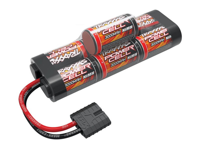 TRAXXAS Battery Power Cell ID 3000mAh (NiMH, 8.4V hump) click to zoom image
