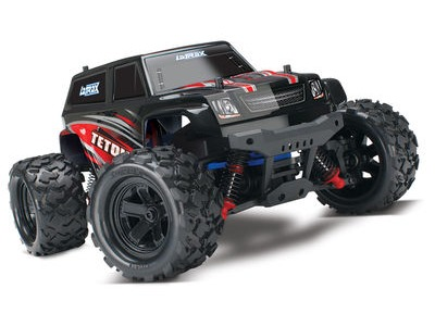 TRAXXAS LaTrax Teton 1/18 4WD (2.4GHz/7.2V/DC Chg) 1/18th Scale Red/Black  click to zoom image
