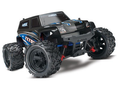 TRAXXAS LaTrax Teton 1/18 4WD (2.4GHz/7.2V/DC Chg) 1/18th Scale Blue/Black  click to zoom image