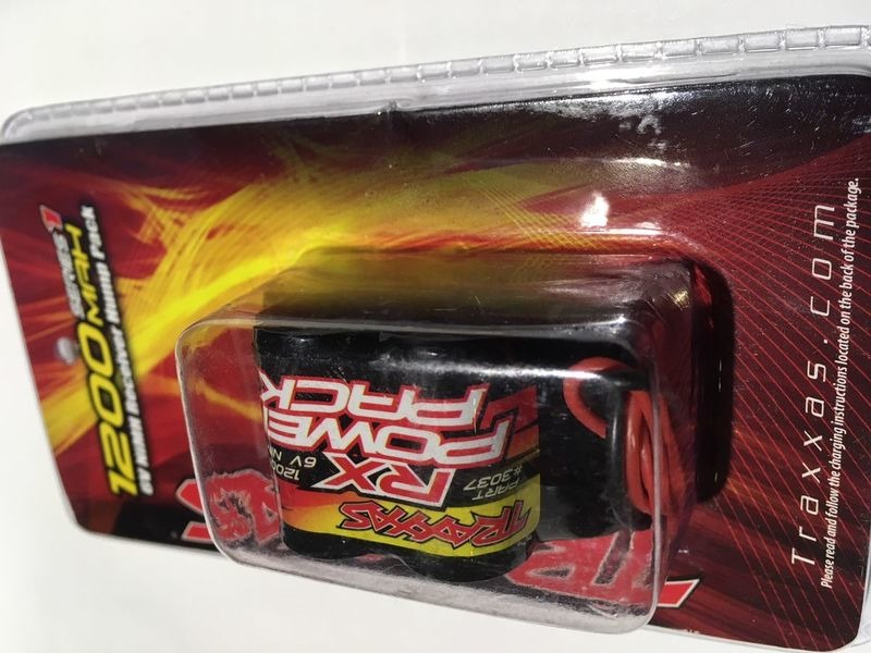 TRAXXAS Battery, RX Power Pack, 1200mAh (NiMH, 6.0V Hump) click to zoom image