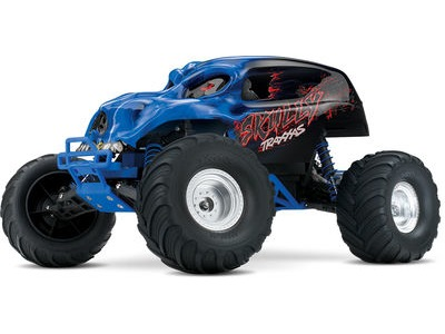 TRAXXAS Skully 1/10 Monster Truck (TQ/8.4V/DC Chg) 1/10 scale Blue  click to zoom image