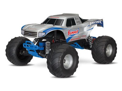 TRAXXAS BIGFOOT 1/10 Monster Truck XL-5 (TQ/8.4V/DC Chg) 1/10 scale silver  click to zoom image