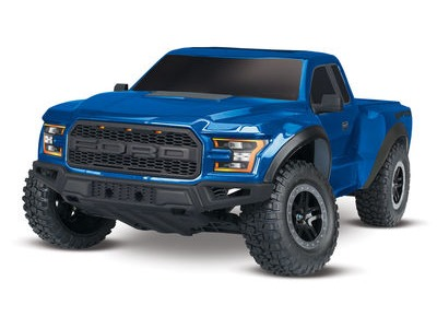 TRAXXAS 2017 Ford F150 Raptor XL-5 2WD (TQ/8.4V/DC Chg) 1/10 scale Blue  click to zoom image
