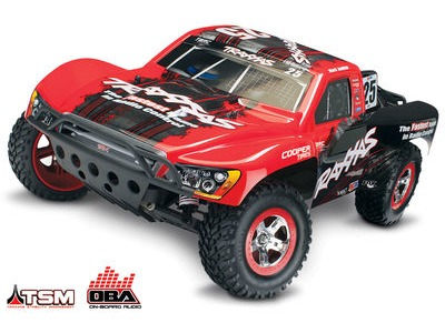 TRAXXAS Slash VXL Brushless 2WD OBA TSM (TQi/No Bat or Chg) 1/10 scale Red On-Board Audio click to zoom image