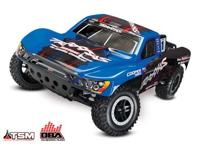 TRAXXAS Slash VXL Brushless 2WD OBA TSM (TQi/No Bat or Chg) 1/10 scale Blue On-Board Audio click to zoom image