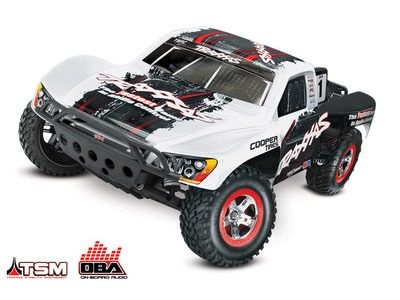 TRAXXAS Slash VXL Brushless 2WD OBA TSM (TQi/No Bat or Chg) 1/10 scale White On-Board Audio click to zoom image