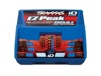 TRAXXAS EZ Peak Plus, Dual Charger, 100W, NiMH/LiPo ID (UK)