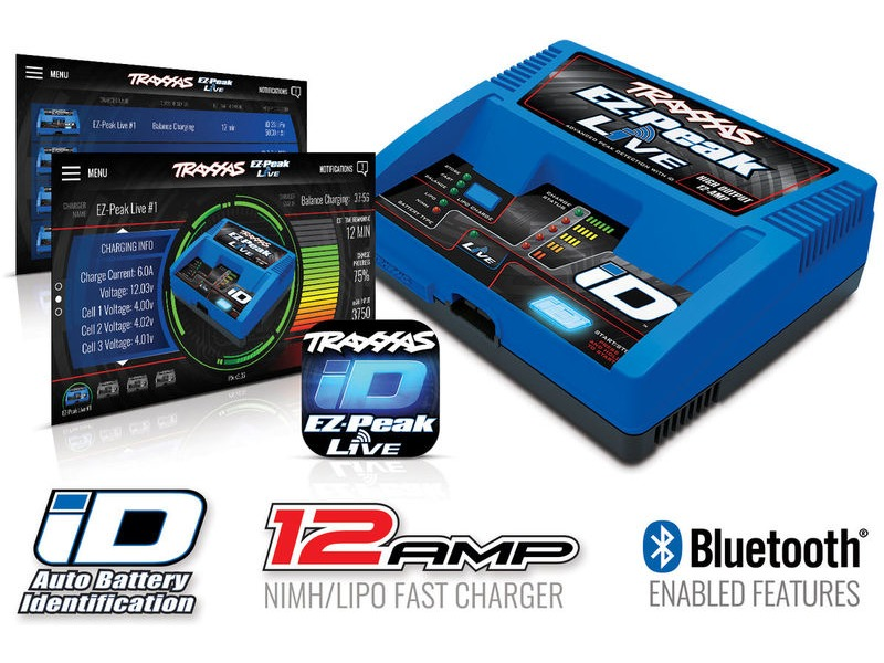 TRAXXAS EZ Peak Live, 100W, NiMH/LiPo Bluetooth ID Charger click to zoom image