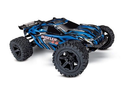 TRAXXAS Rustler 4X4 XL-5, 1/10 Stadium Truck (TQ, No Battery/Charger) 1/10 scale Blue  click to zoom image