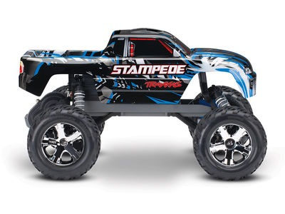 TRAXXAS Stampede XL-5 2WD (TQ/No Batt or Chg) 1/10 scale Blue  click to zoom image