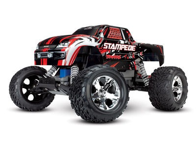 TRAXXAS Stampede XL-5 2WD (TQ/No Batt or Chg) 1/10 scale Red  click to zoom image