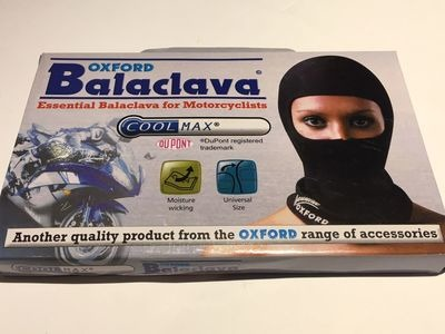 OXFORD PRODUCTS CoolMax Balaclava One Size Black