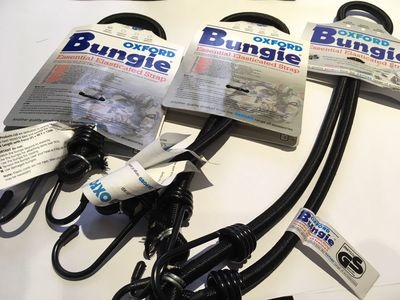 OXFORD PRODUCTS Elasticated Bungee Strap with Hooks (Length Option).