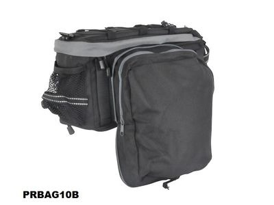 PREMIER Rack Pack Top Bag With Folding Side Panniers click to zoom image