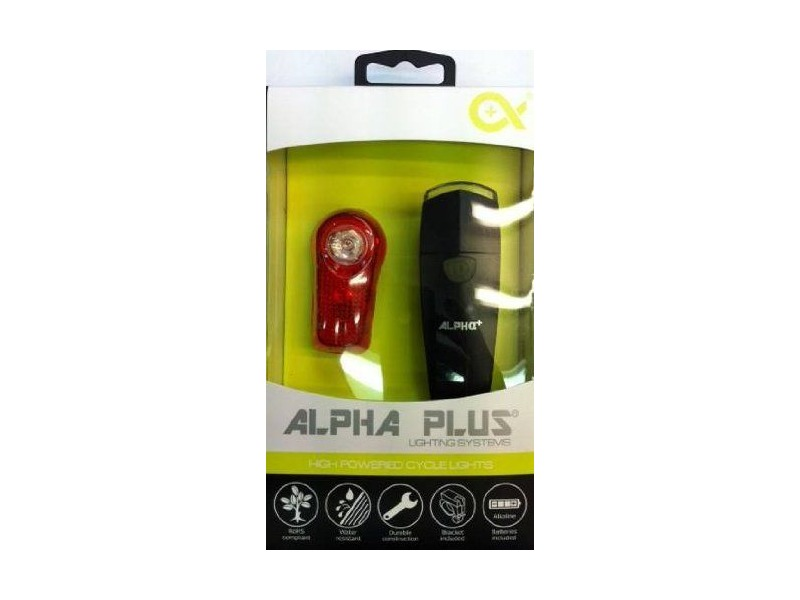 ALPHA PLUS 1w Ultra White + 0.5w Red Led set click to zoom image