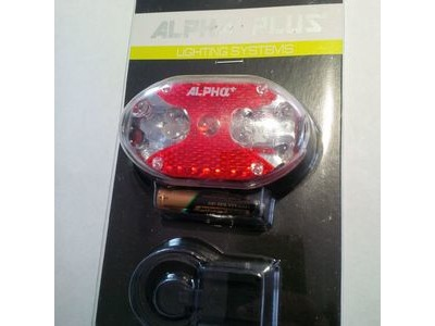 ALPHA PLUS Rear Light 9 LED with reflector