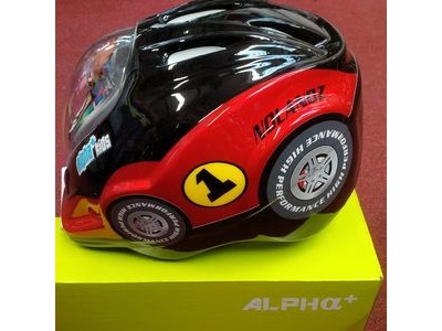ALPHA PLUS Junior Helmet Car 52-56cm Dial Fit