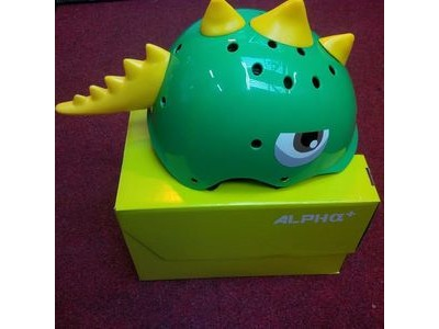 ALPHA PLUS Junior Dinosaur Helmet 48-54cm