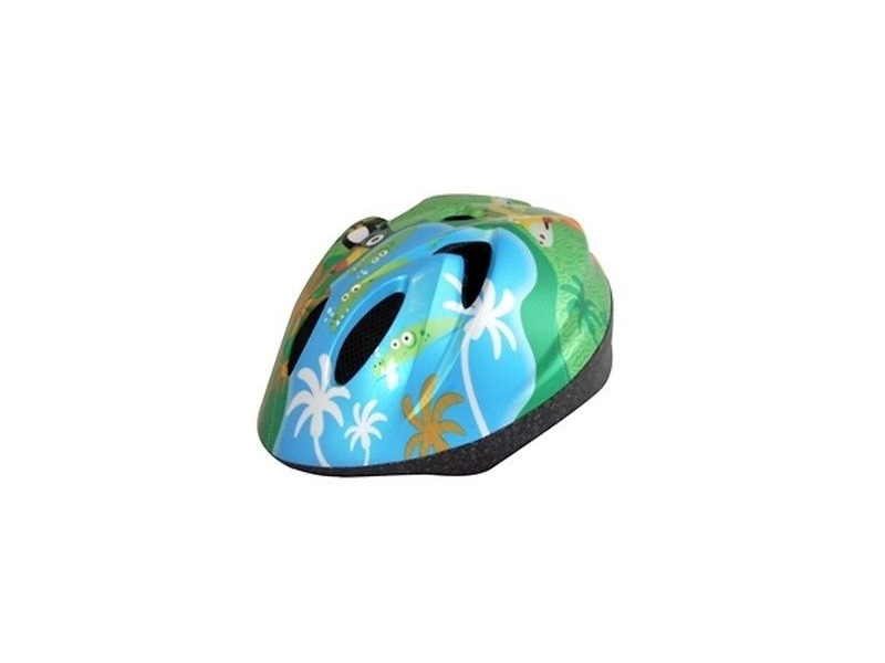ALPHA PLUS Junior Helmet Animal Jungle 52-56cm Dial Fit click to zoom image